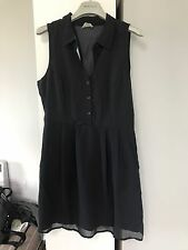 Urban Outfitters Navy Shirt Dress With Open Back Size S New