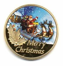 USA Santa Claus - Merry Christmas - Limited Edition Gold Plated Coin - NEW