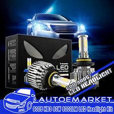 2x 9005 HB3 COB 4-Sided LED Headlight Kit 80W 8000LM White Bulbs High Beam Pair