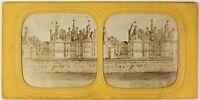 Château Da Chambord Francia Foto Stereo PL54L5n6 Diorama Vintage Albumina