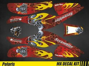 Kit Déco Quad / Atv Decal Kit Polaris Scrambler Trailblazer  - Motor Skull Red
