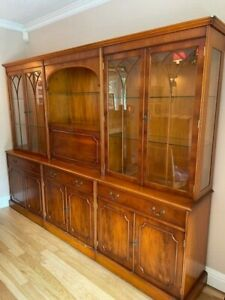 Large dresser / glass display /dining room unit with drinks cabinet & sideboard.