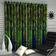 New 4 Piece Eyelet Door Curtain Set - 7 feet Green