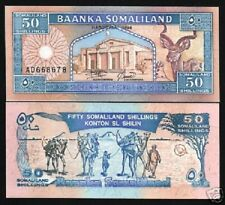 SOMALILAND 50 SHILLIN P4 a 1994 CAMEL BIRD UNC AFRICA ANIMAL CURRENCY MONEY NOTE