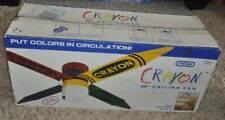 NEW Vintage 1992 Reversible Crayon Ceiling Fan Light Lamp 48 inch Encon USA