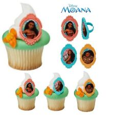 Moana Cupcake Toppers Rings - 12 Birthday Party Supplies Favors Cake Toppers