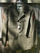Vintage United States Marines Coat Jacket with Pants 1970's With Belt