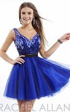 NWT Beaded rhinestone Mini Dress by Rachel Allan Princess style2788 size 4