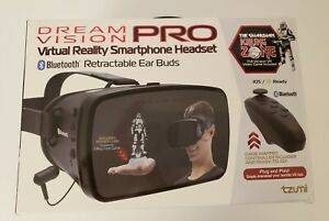 TZUMI DREAM VISION PRO VIRTUAL SMARTPHONE HEADSET 4872 B WITH REMOTE NEW!