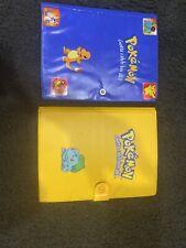 Rare Nintendo Pokemon Card Binder Book Yellow & Blue