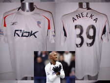 Bolton Wanderers Anelka Adult L Shirt Jersey Football Soccer Reebok France PSG