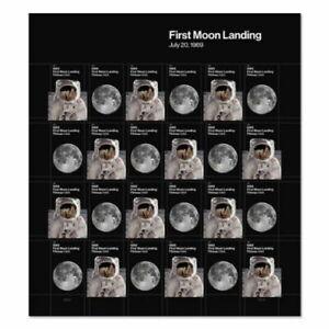 US NASA SCOTT #5399-5400 FIRST MOON LANDING JULY 20, 1969 FOREVER 24 STAMP SHEET