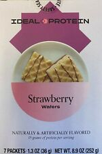 3 Boxes IDEAL PROTEIN STRAWBERRY WAFERS Newest Release Non-restricted