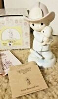 "1987 Precious Moments ""Love Rescued Me"" Porcelain Fireman Figurine 102393 W/Box"