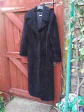 Vintage C&A Clockhouse Black Maxi Coat Size 16