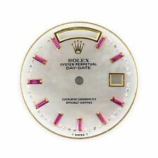 Rolex Dial For Presidents M.18028 18038 118238 Day-Date 27mm Ruby & Diamond 1 CT
