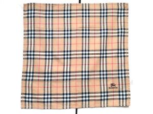 Burberrys Bandana Pocket Square Mini Scarf Handkerchief Neckerchief Nova Check 4