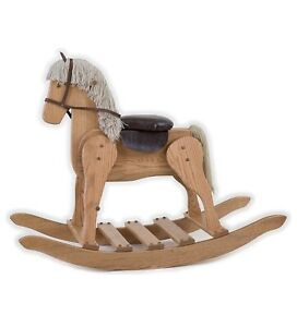 Wooden Rocking Horse Handcrafted - Brand New In original Box - Vintage
