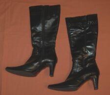 Street Stiefel Gr. 39 gefüttert Höhe 41 cm Lederstiefel Schuhe Winterstiefel