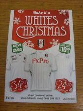 2012/2013 Fulham: hacen un blanco Navidad-Mercancía Oficial Navidad Gato