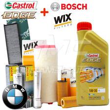Kit tagliando olio CASTROL EDGE 5W30 6LT + 4 FILTRI BMW 320D E90 E91 177 CV