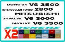 stickers for Mitsubishi, Pajero and Delica, 24 VALVE V6 3000, 3500 - 16 colours