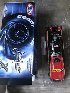 COURTNEY FORCE + John Force Dual Signed ADVANCE AUTO PARTS  1/24  + 2 Hero Cards