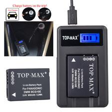 Akku + USB Ladegerät für Panasonic DMW-BCG10E Lumix DMC-TZ6 DMC-TZ7 DMC-TZ8
