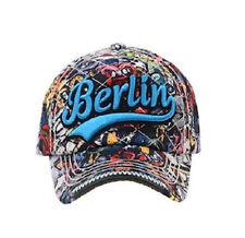 ROBIN RUTH Cap Graffiti Colors Berlin NEU Basecap Kappe mit blauem Schriftzug