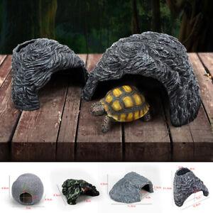Reptile Habitat Hiding Cave House Fish Turtle Tank Basking Ornament Landscape AU