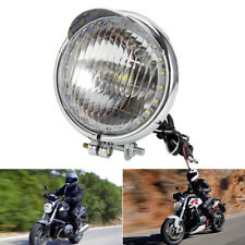 "Universal 5 ""Motocicleta LED Faro principal Lámpara CROMO Moto impermeable 12V"