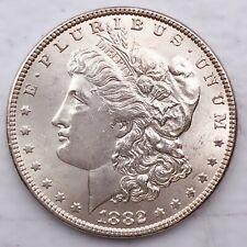 1882 UNC GEM MS+++ MORGAN SILVER DOLLAR 90% SILVER $1 COIN US #Q7
