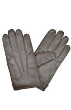 Brooks Brothers Men's Brown Genuine Leather Thinsulate Gloves Sz Medium M 8065-7