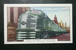 The Green Diamond    Illinois Central  System    1930's Vintage Card  VGC