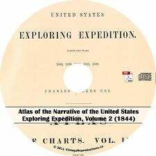 1844 United States Exploring Expedition Atlas Vol 2 - Maps Book on Cd