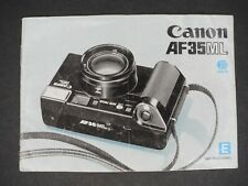 Canon Af35Ml 1982 Camera Instruction Book / Manual / User Guide