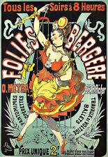 Art Ad Folies Bergere  O Metra Prix Unique  Art Deco  Poster Print
