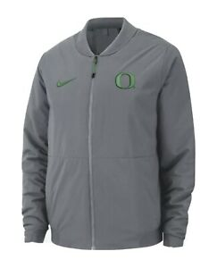 Men's Bomber Jacket Nike College Shield Oregon Ducks Grey NWT $200