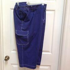 Liz Claiborne 22W Blue Sloane Capri Pants Curvy Cargo Plus Size