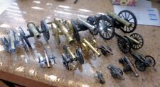 Vintage collectible  cannons cast iron & brass. 14 cannons total