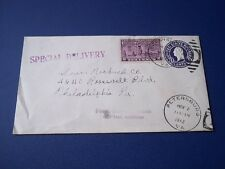 US Special Delivery cover.  Mailed to Sears Roebuck Co. 1942.