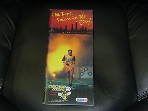 1985-86 CHICAGO STING NASL SOCCER MEDIA PRESS GUIDE.  EX-MINT