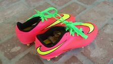 Nike Hyper Venom Size 5Y Orange/Pink & Green