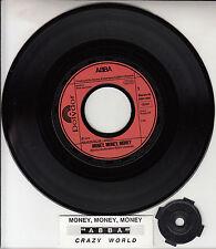 "ABBA Money, Money, Money & Crazy World  PICT SLEEVE 7"" 45 BRAND NEW + juke strip"