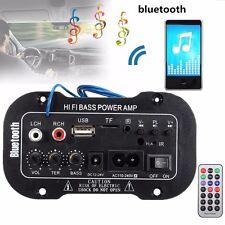 Mini Bluetooth Hi-Fi Altavoz de Coche Estéreo Amplificador Bass Booster USB 220V