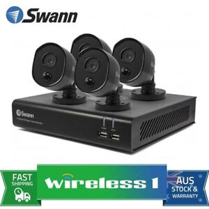 Swann 4 Channel DVR-4480 Full HD Security System 4 Thermal Sensing Cameras SW...