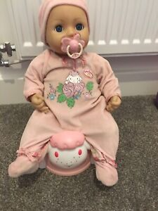 Baby Annabell Doll Drinks And Wees With Dummy Bottle And Musical Potty