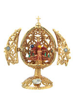 Faberge Carved Egg Church of Savior on Blood St.-Petersburg 2.6'' gold color