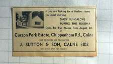 1961 Show Bungalows Curzon Park Estate Chippenham Road Calne, J Sutton