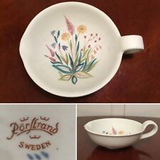Vintage RORSTRAND Swedish Pottery Meadow Flower Handled Spout Bowl Lars Thoren